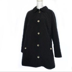 Covington Quilted Black Coat Plus